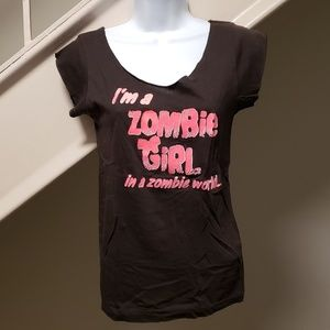 Tops - Zombie Girl Large 'Cutter' T-Shirt
